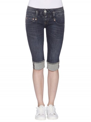 Herrlicher Pitch Short Denim Powerstretch Jeans dunkelblau