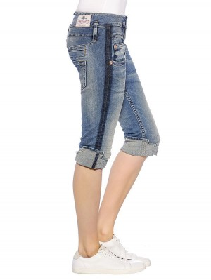 Herrlicher Pitch Short Denim Powerstretch Jeans sportive