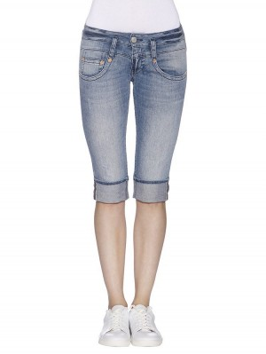 Herrlicher Pitch Short Denim Stretch vorne