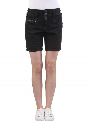 Herrlicher Raya Short Denim Black Stretch Jeans