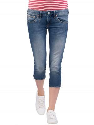 Herrlicher Pansy Capri Denim Stretch Jeans mittelblau vorne