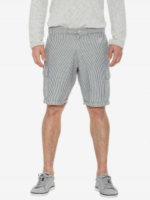 Herrlicher Iver Indigo Shorts mit Streifen