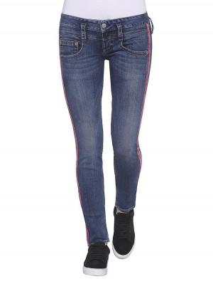 Herrlicher Pitch Slim Denim Powerstretch Jeans mit Galonstreifen