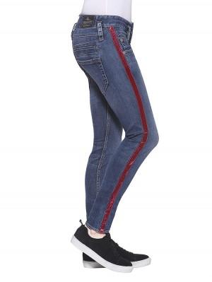 Herrlicher Pitch Slim Powerstretch Jeans mit Galonstreifen
