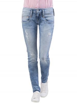 Herrlicher Pitch Slim Denim Powerstretch Jeans hellblau vorne