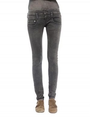 Herrlicher Pitch Slim Denim Black Stretch Jeans vorne