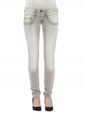 Pitch Slim Denim Black Comfort + Jeans hellgrau vorne