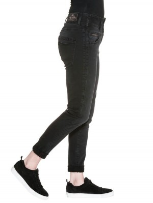 Herrlicher Raya Boy Denim Black Stretch Jeans