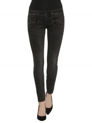 Herrlicher Shyra Slim Denim Black Stretch Jeans Front Schwarz