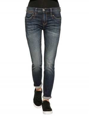 Herrlicher Piper Boyfriend Jeans Damen dunkelblau vorne