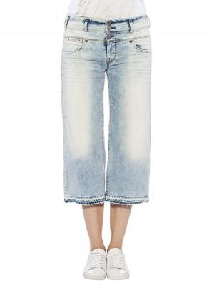Herrlicher Raya Cropped Denim Kashmir Jeans Culotte hellblau vorne