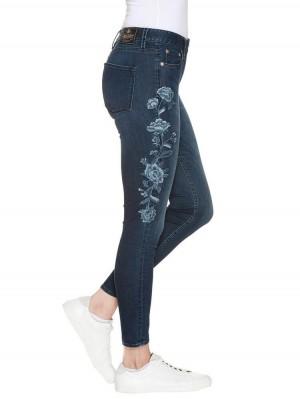 Herrlicher Superslim Cropped Denim Stretch Jeans blau