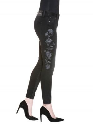 Herrlicher Superslim Cropped Denim Black Stretch Jeans
