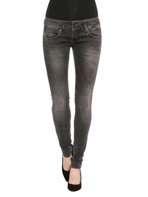 Herrlicher Mora Slim Denim Black Stretch Jeans grau vorne