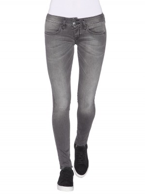 Herrlicher Mora Slim Denim Black Stretch Jeans grau