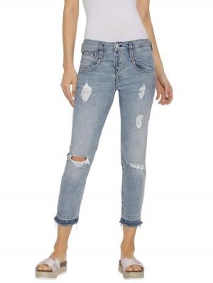 Herrlicher Shyra Cropped Jeans mit Fransen
