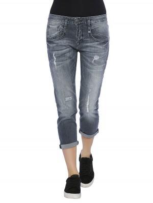 Herrlicher Shyra Cropped Denim Black Stretch Jeans vorne