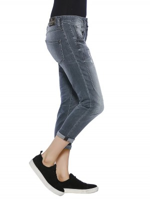 Herrlicher Shyra Cropped Denim Black Stretch Jeans
