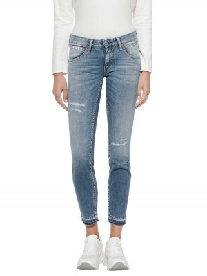 Herrlicher Touch Cropped Cashmere-Touch Jeans