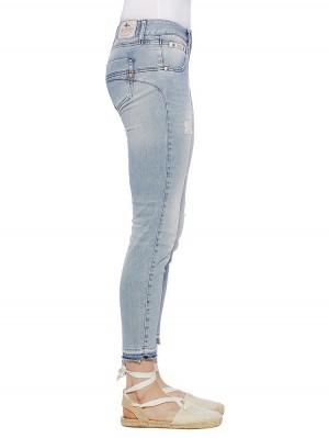 Herrlicher Touch Cropped Denim Stretch Jeans
