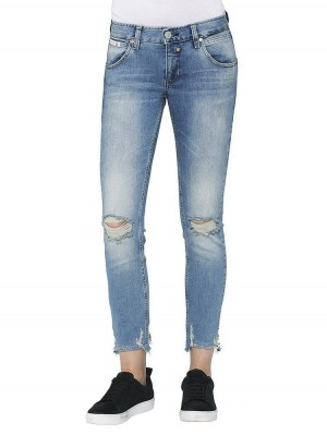 Herrlicher Touch Cropped Denim Stretch Jeans