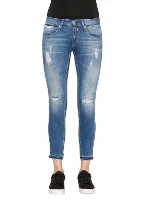 Touch Cropped Damen Jeans destroyed