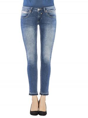 Herrlicher Touch Cropped Denim Stretch Jeans blau vorne
