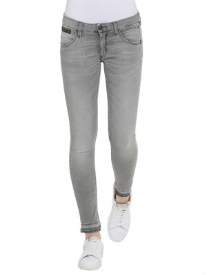 Herrlicher Touch Cropped Black Stretch Jeans