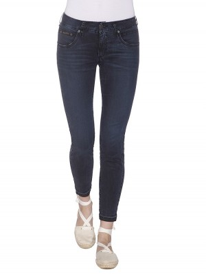 Herrlicher Touch Cropped Denim Black Stretch vorne