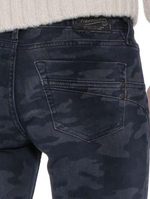 Herrlicher Touch Cropped Hose mit Camouflagemuster