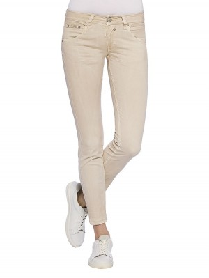 Herrlicher Touch Cropped Satin Stretch Hose
