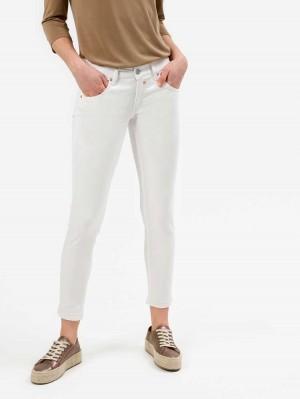 Herrlicher Touch Cropped Hose in Weiß