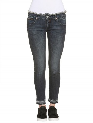 Herrlicher Touch Fancy Denim Powerstretch Jeans dunkelblau