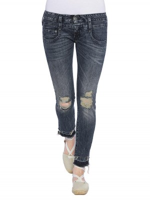 Herrlicher Pitch Slim Cropped Denim Comfort + Jeans