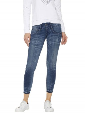 Herrlicher Pitch Slim Cropped Jeans Two-in-One