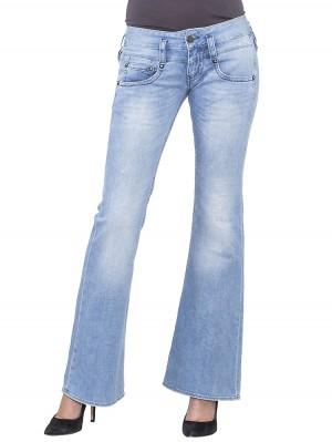 Herrlicher Pitch Flare Denim Stretch Jeans hellblau vorne