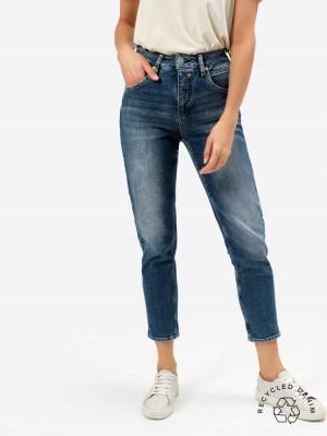Herrlicher Touch HI Conic Jeans mit recycelter Baumwolle