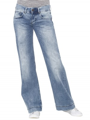 Herrlicher Judie Denim Stretch Jeans hellblau vorne