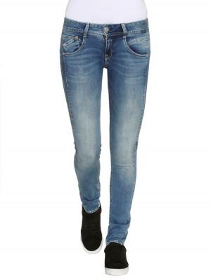 Herrlicher Gila Slim Powerstretch Jeans mittelblau