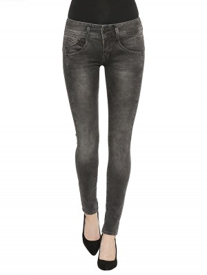 Herrlicher Gila Slim Denim Black Stretch Jeans dunkelgrau
