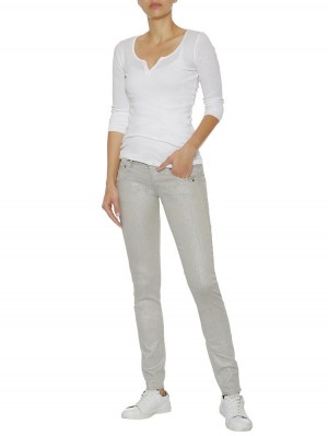 Herrlicher Gila Slim Jeans mit Glitzer