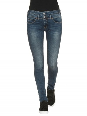 Herrlicher Baby Slim Denim Powerstretch Jeans blau