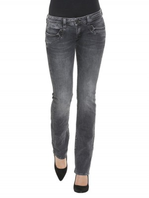 Herrlicher Piper Straight Black Stretch Jeans
