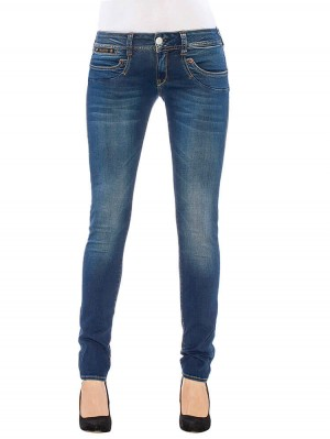 Herrlicher Piper Slim Powerstretch Jeans mittelblau