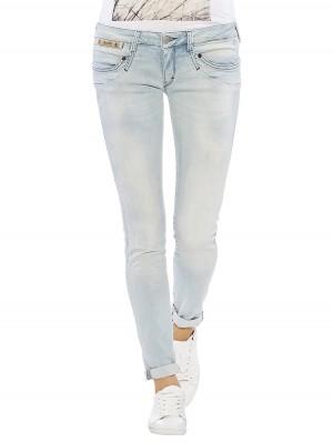 Herrlicher Piper Slim Denim Powerstretch Jeans hellblau vorne