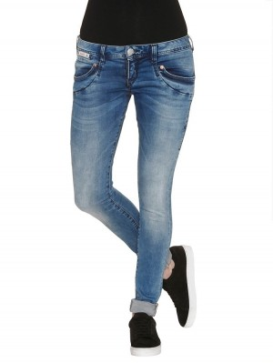 Herrlicher Piper Slim Denim Powerstretch Jeans blau