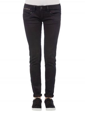 Herrlicher Piper Slim Denim Black Stretch Jeans schwarz vorne