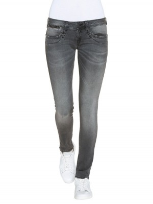 Herrlicher Piper Slim Denim Black Stretch Jeans grau