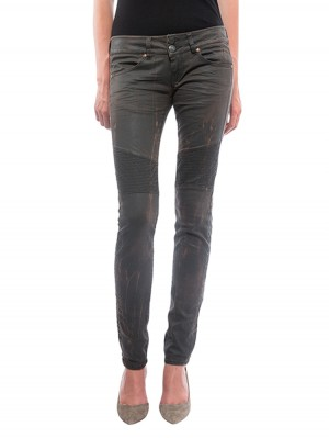 Herrlicher Moira Slim Coated Stretch Hose