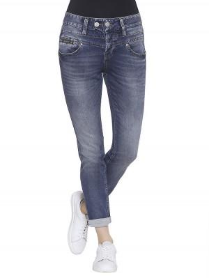 Herrlicher Bijou Boyfriend Jeans klassisch blau vorne
